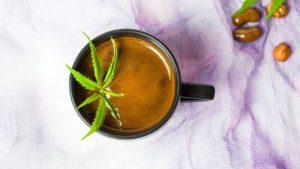 CBD oil infused coffee