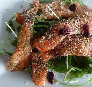 Salmon with Hemp seeds & cannabidiol